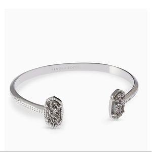 Kendra Scott silver Elton bracelet platinum drusy